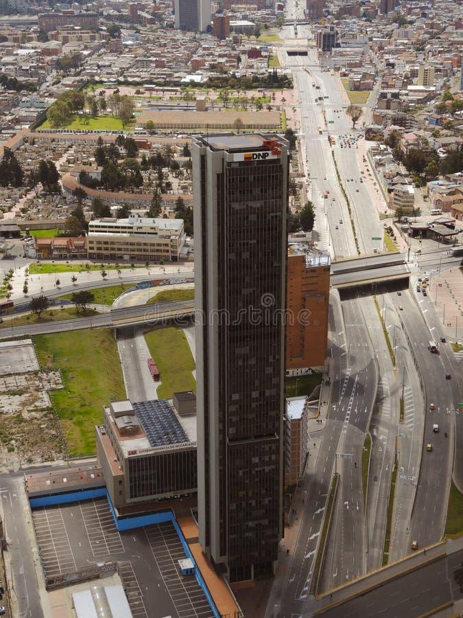 Ansicht von modernem Bogota, Kolumbien lizenzfreie stockbilder
