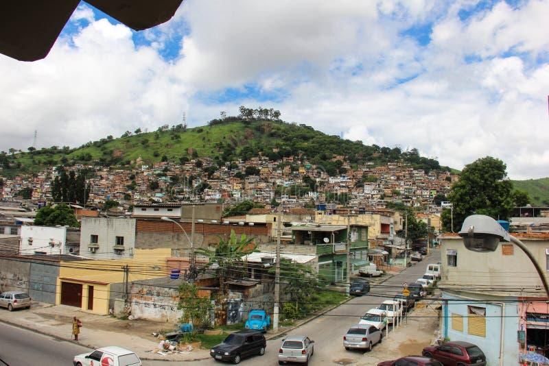 Ansicht von Morro tun Juramento-favela in Rio de Janeiro stockbild