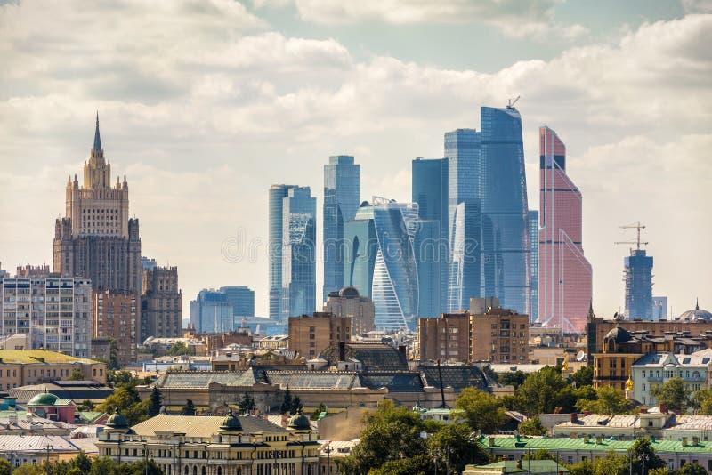 Ansicht von Moskau, Russland lizenzfreies stockbild