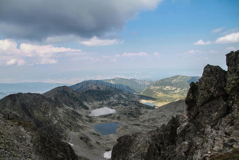 Ansicht von Musala-Spitze stockbild