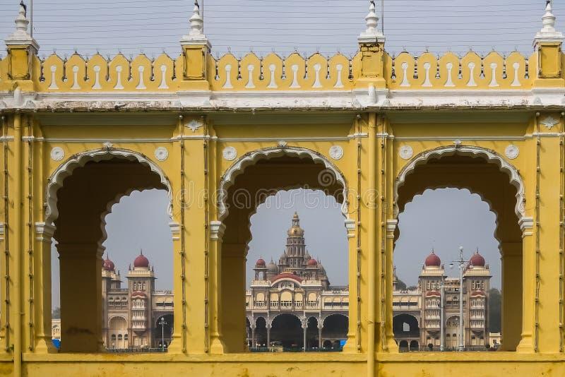 Ansicht von Mysore-Palast lizenzfreies stockbild