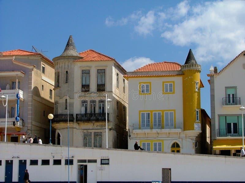 Ansicht von Nazare Portugal, Europa stockbilder