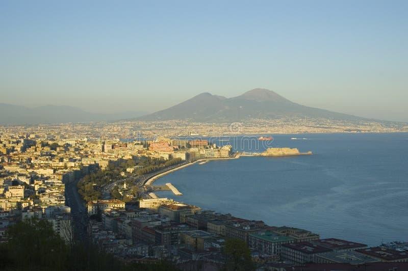Ansicht von Neapel, Italien stockbild