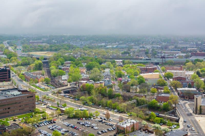 Ansicht von New-Haven, Connecticut lizenzfreies stockbild