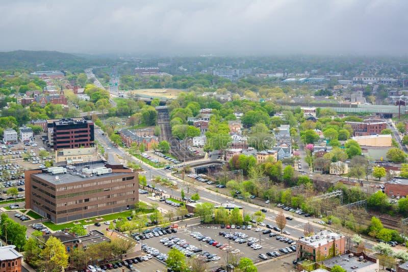 Ansicht von New-Haven, Connecticut stockbild