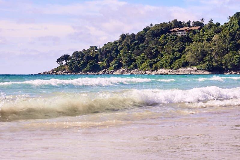 Ansicht von oben Blaues Wasser Sonniger Tag lizenzfreies stockbild
