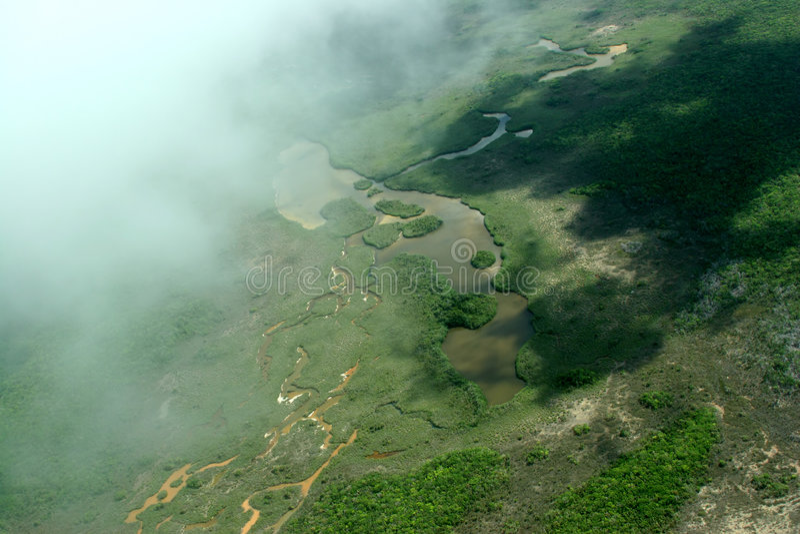 Ansicht von oben genanntem Belize lizenzfreie stockfotos