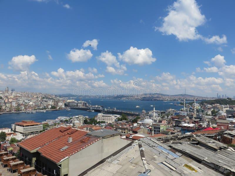Ansicht von oben genanntem zu Bosporus, die Türkei stockbilder