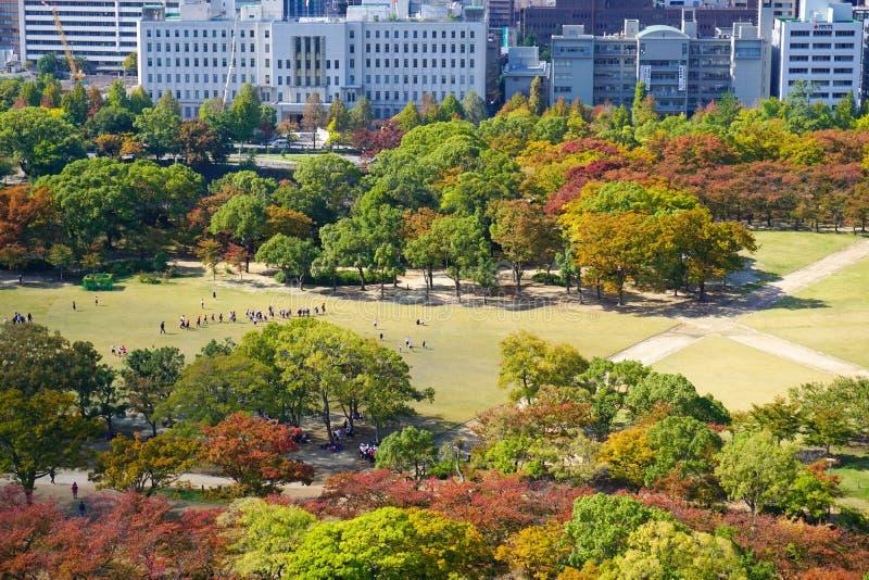 Ansicht von Osaka im Stadtzentrum gelegen lizenzfreies stockfoto