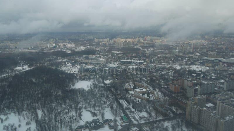 Ansicht von Ostankino Fernsehturm stockbild