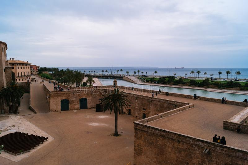 Ansicht von Palma de Mallorca-Meer stockfotos