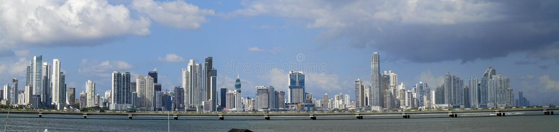 Ansicht von Panama-Stadt von der alten Stadt stockfoto