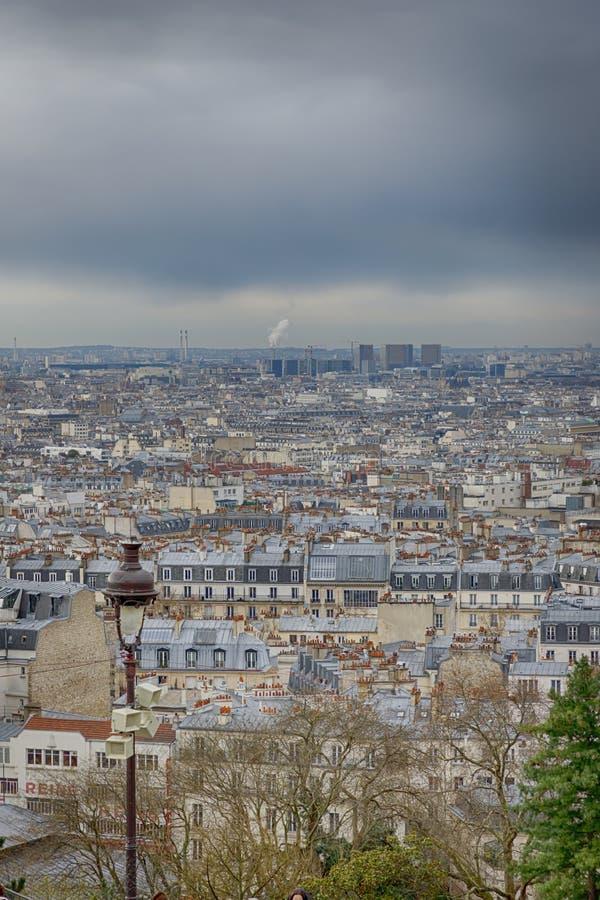 Ansicht von Paris von Basilika Sacre Coeur Paris, Frankreich stockfotos