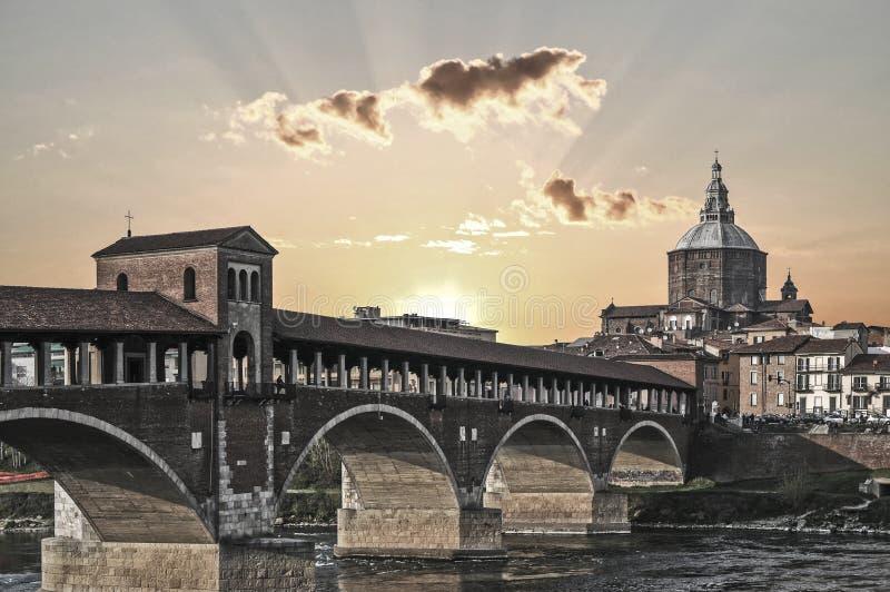 Ansicht von Pavia stockbilder