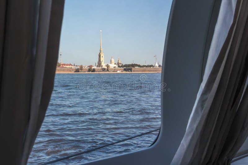 Ansicht von Peter- und Paul Petropavlovskaya-Festung stockbild