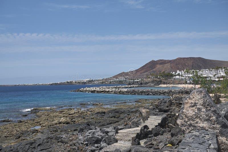 Ansicht von Playa BLANCA lizenzfreie stockfotografie