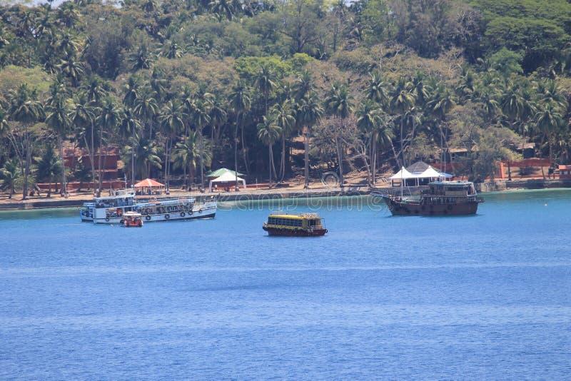 Ansicht von Port Blair lizenzfreie stockbilder
