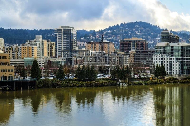 Ansicht von Portland, Oregon lizenzfreies stockfoto