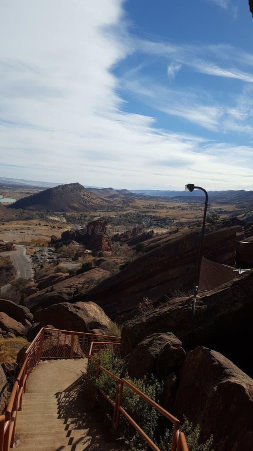Ansicht von Redrocks-Amphitheater lizenzfreie stockfotografie