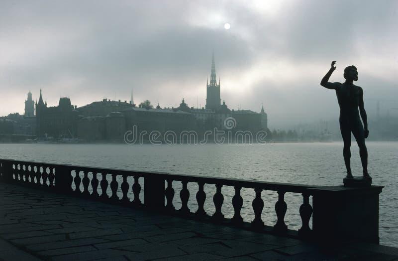 Ansicht von Riddarholmen in Stockholm lizenzfreie stockbilder