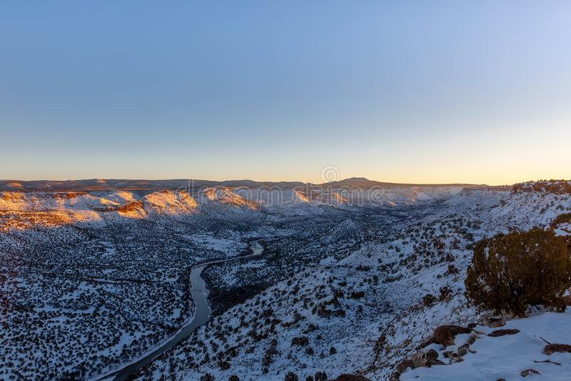 Ansicht von Rio Grande-Süden vom weißen Felsen übersehen, Nanometer lizenzfreie stockbilder