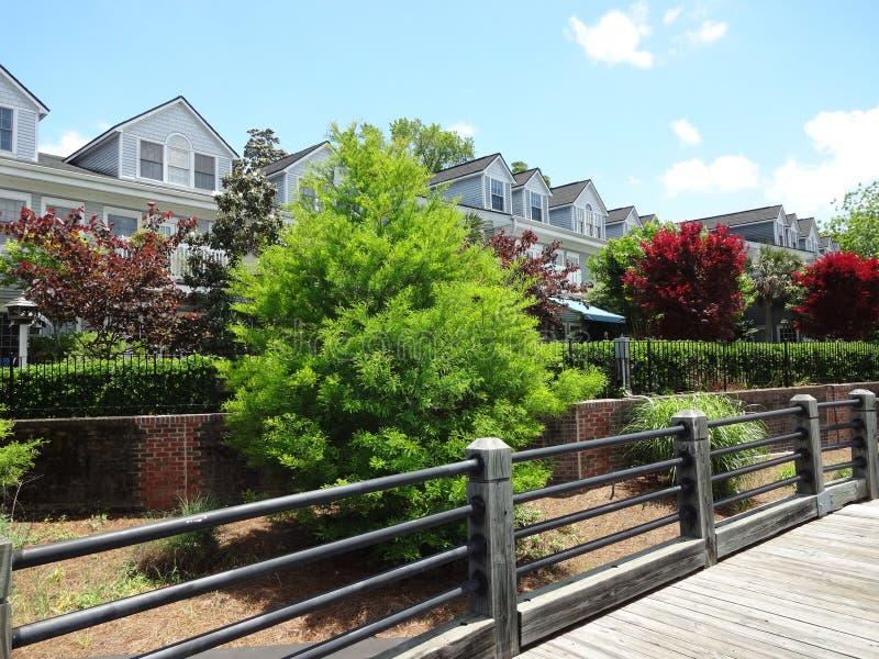 Ansicht von Riverwalk in Wilmington, North Carolina lizenzfreies stockfoto
