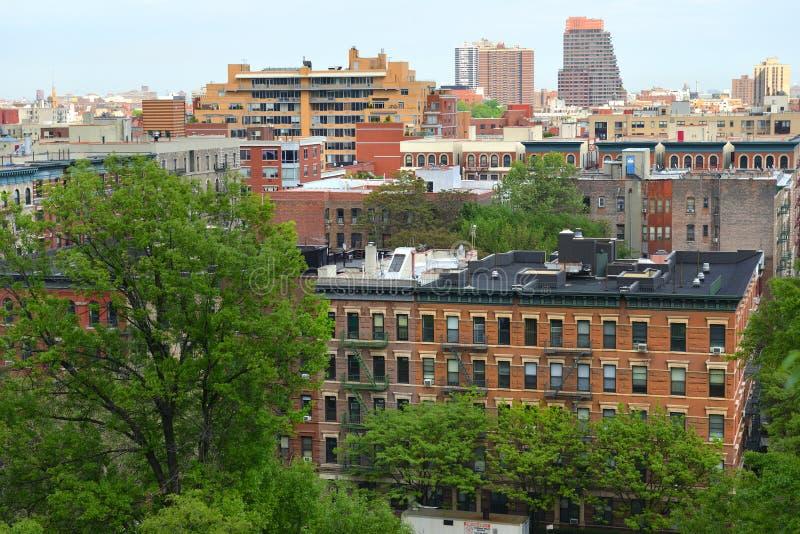 Ansicht von Süd-Harlem und von Morningside-Park von Morningside-Antrieb in Morningside- Heightsnachbarschaft von Manhattan, New Y stockbilder