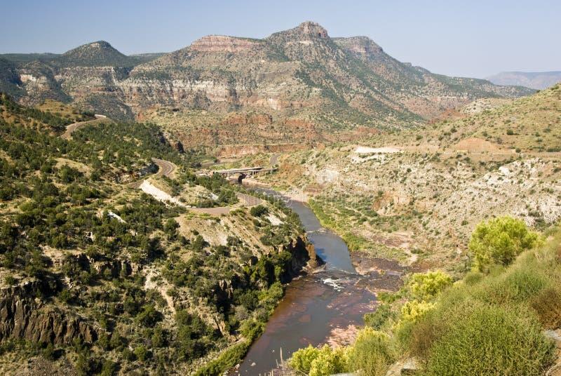 Ansicht von Salz-Fluss lizenzfreies stockfoto
