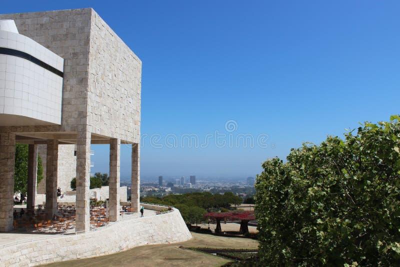 Ansicht von Santa Monica von der Getty Mitte lizenzfreie stockfotos