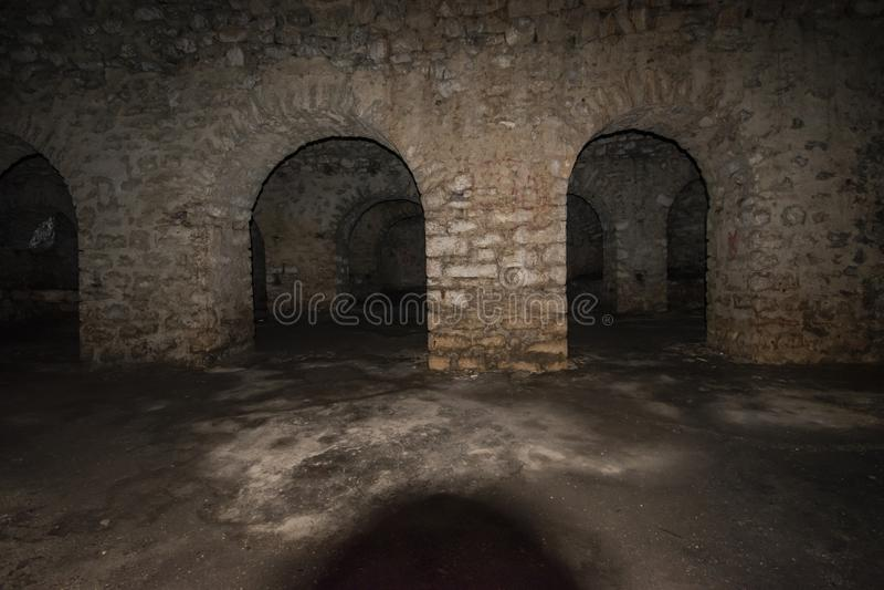 Ansicht von Schloss Porto Palermo stockbilder