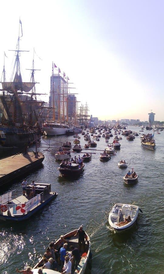 Ansicht von Segel-Amsterdam-Festival 2015 stockbild