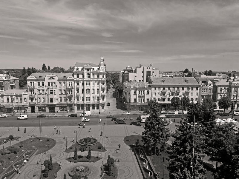 Ansicht von Soborna-Quadrat, Vinnytsia, Ukraine stockbilder