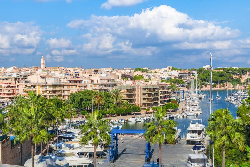 Ansicht von Stadt Porto Cristo, Palma Mallorca, Spanien stockfoto
