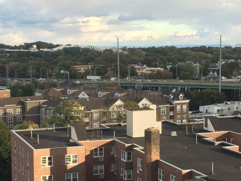 Ansicht von Stamford, Connecticut lizenzfreie stockfotografie