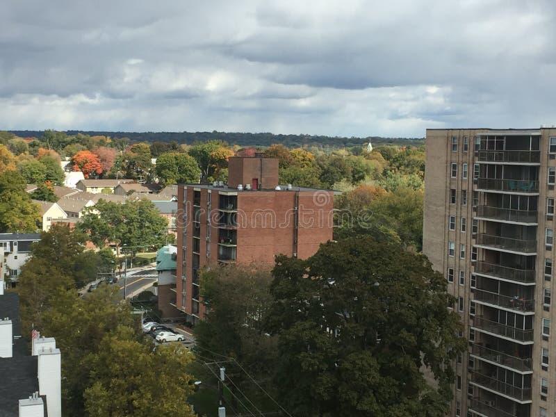 Ansicht von Stamford, Connecticut lizenzfreie stockfotos