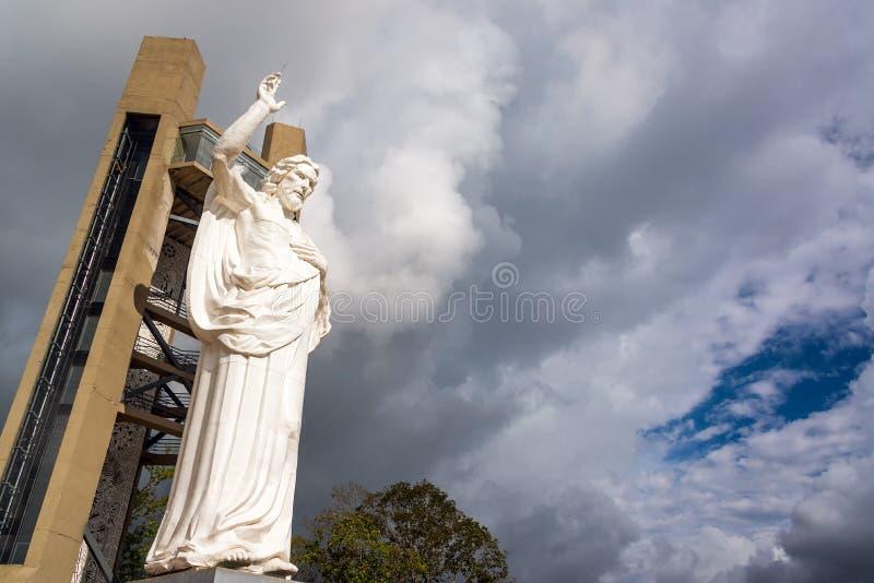 Ansicht von Statue EL Santisimo stockbild