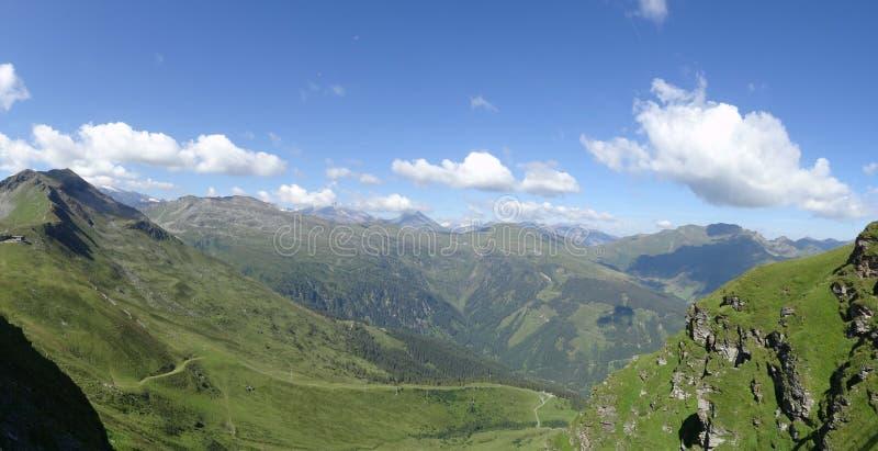 Ansicht von Stubnerkogel, schlechtes Gastein, Almorama, Salzburg, Österreich lizenzfreie stockbilder