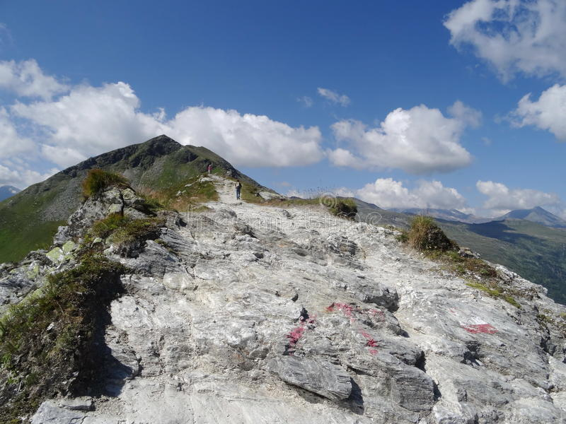 Ansicht von Stubnerkogel, schlechtes Gastein, Almorama, Salzburg, Österreich stockfotos