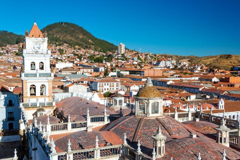Ansicht von Sucre, Bolivien stockbilder