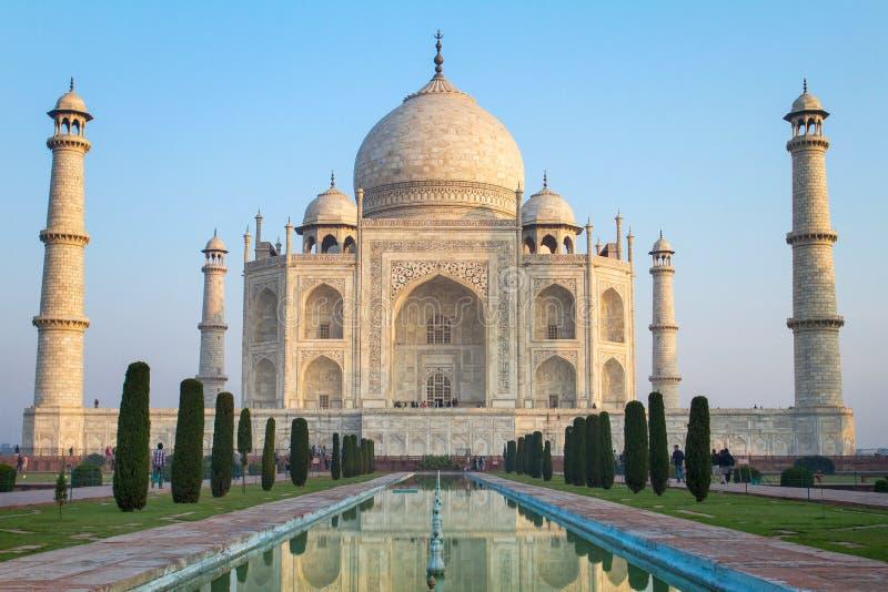 Ansicht von Taj Mahal, Agra, Indien lizenzfreie stockfotografie