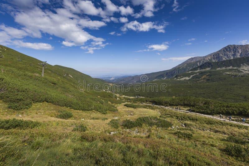 Ansicht von Tatra-Bergen vom Wanderweg polen europa lizenzfreies stockbild