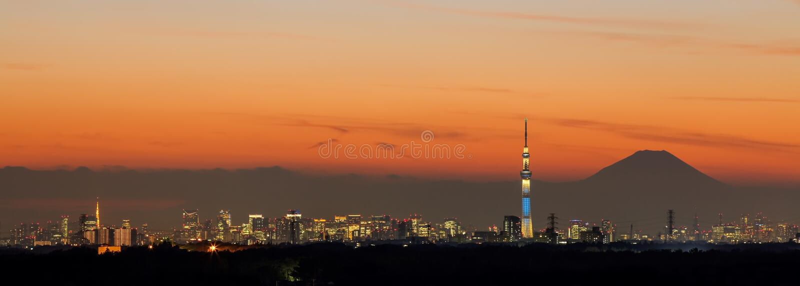 Ansicht von Tokyo-Stadt lizenzfreie stockfotos