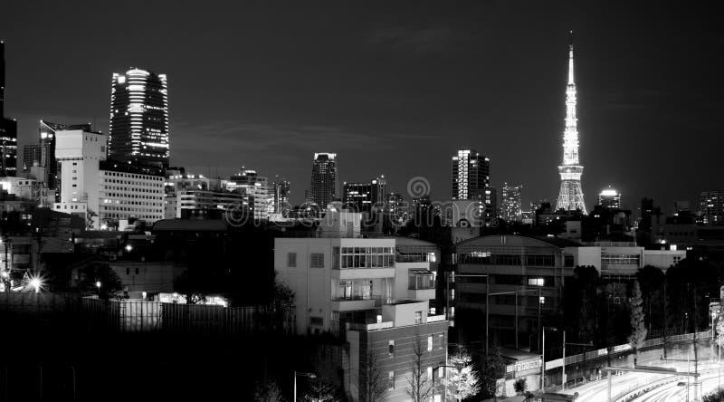 Ansicht von Tokyo-Turm von Roppongi Hills lizenzfreie stockfotografie