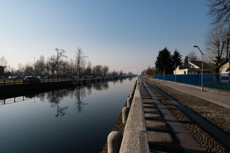 Ansicht von Trezzano-sul naviglio stockfotografie