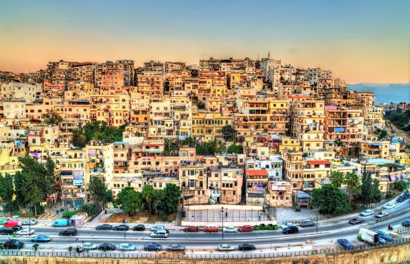 Ansicht von Tripoli, die zweitgrösste Stadt im Libanon lizenzfreies stockbild