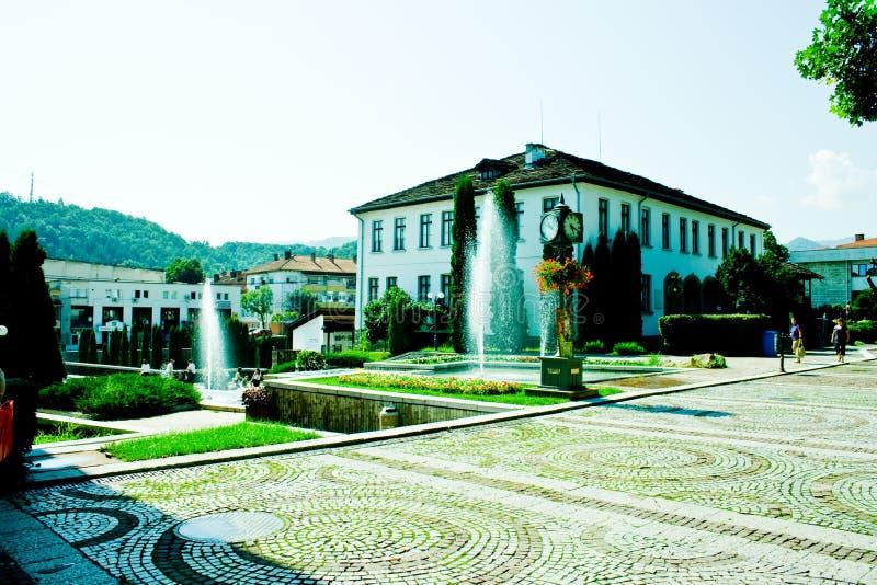 Ansicht von Troyan Bulgarien stockfotos
