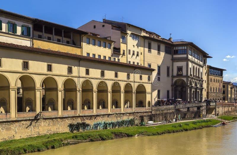 Ansicht von Uffizi-Galerie, Florenz lizenzfreie stockfotos