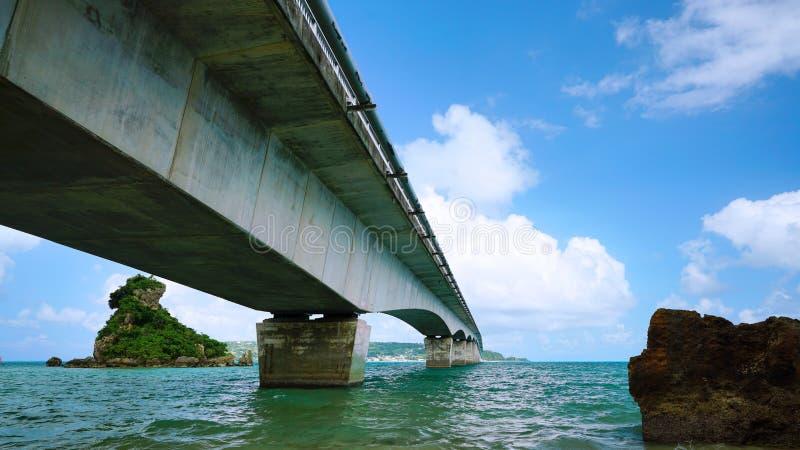 Ansicht von unterhalb der Kouri-Brücke lizenzfreies stockfoto
