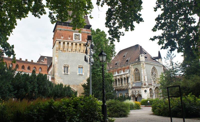 Ansicht von Vajdahunyad-Schloss, schöne Architektur, Budapest, Ungarn stockbild