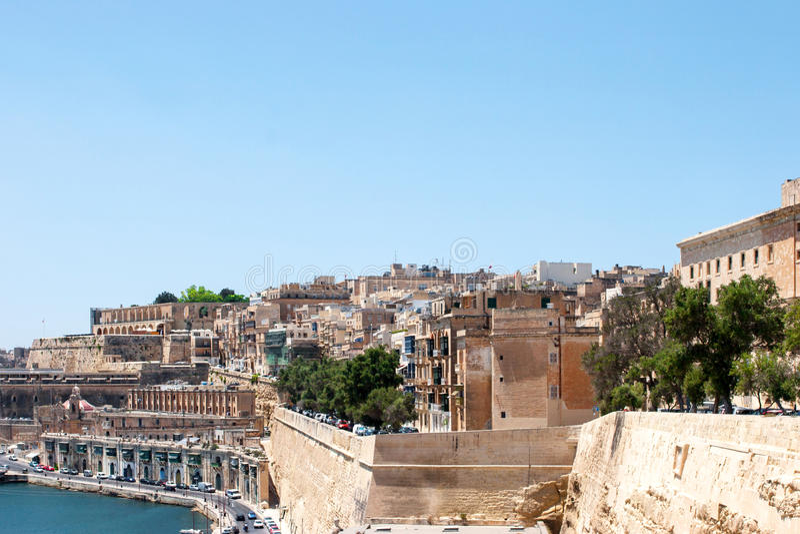 Ansicht von Valletta, Malta lizenzfreies stockbild